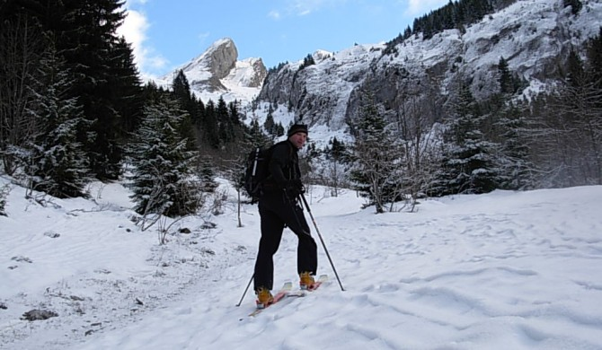 Ski de randonnée dans le massif de Blonnière