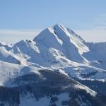 Vue sur le Mont Charvin depuis la Tournette